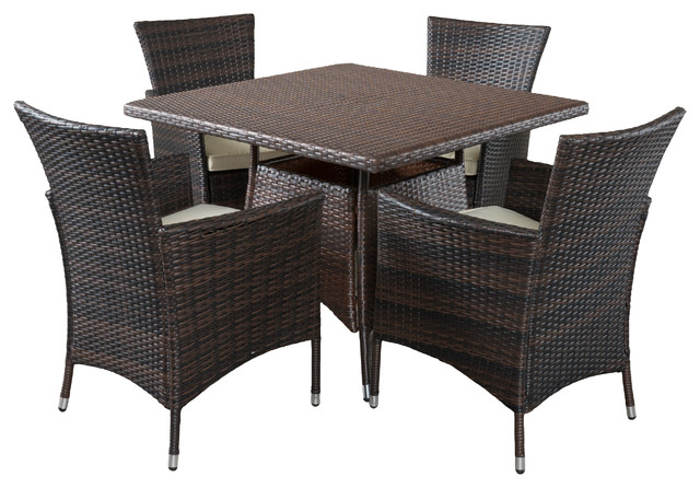 outdoor wicker dining room chairs. clementine outdoor wicker dining set, multibrown tropical-outdoor-dining -sets room chairs d