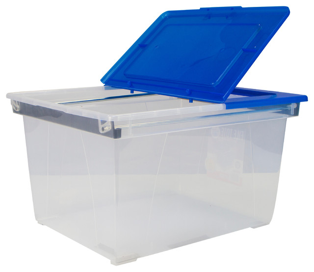 Heavy Duty File Tote With Steel Rails.