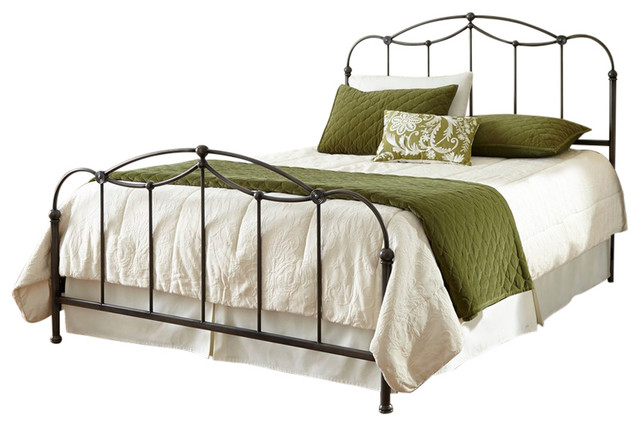 Affinity Bed With Metal Spindle Panels, Black, California King.