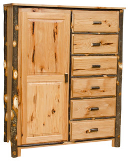 Shop Houzz | Furniture Barn USA Rustic Hickory Wardrobe, All Hickory - Armoires And Wardrobes