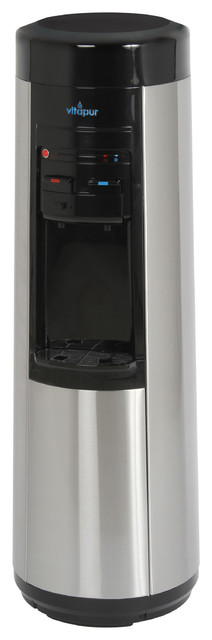 Point-Of -Use Water Dispenser (hot, Room And Cold) Black/stainless Steel.