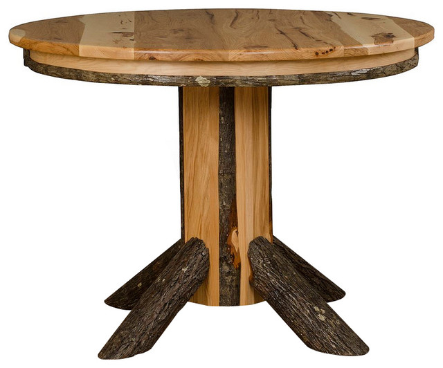 Furniture Barn Usa Hickory Log Round Pedestal Table 48