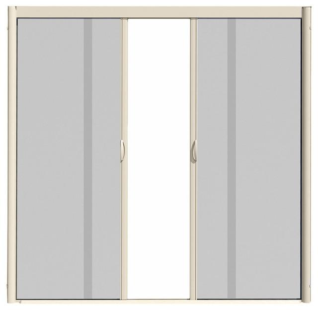 Aedes techonogies genuis visiscreen double panel for Retractable screen door for double doors