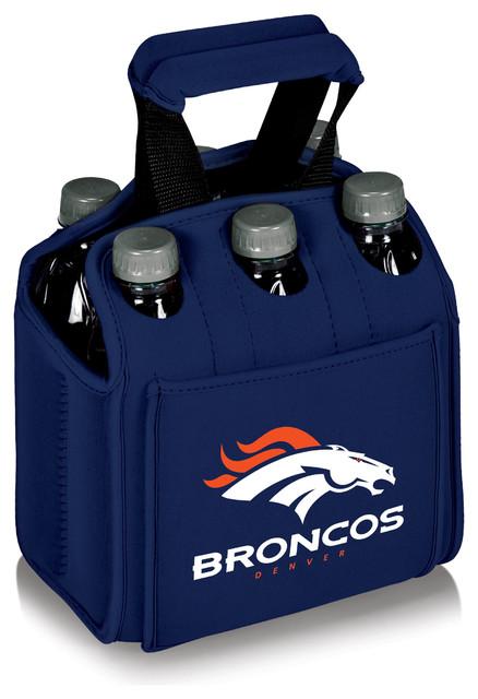 Denver Broncos Six Pack Beverage Carrier, Navy.
