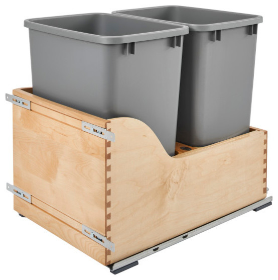 Double Pullout Waste Container, 20.38""