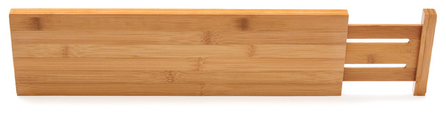Bamboo Deep Kitchen Drawer Dividers, Set Of 2.