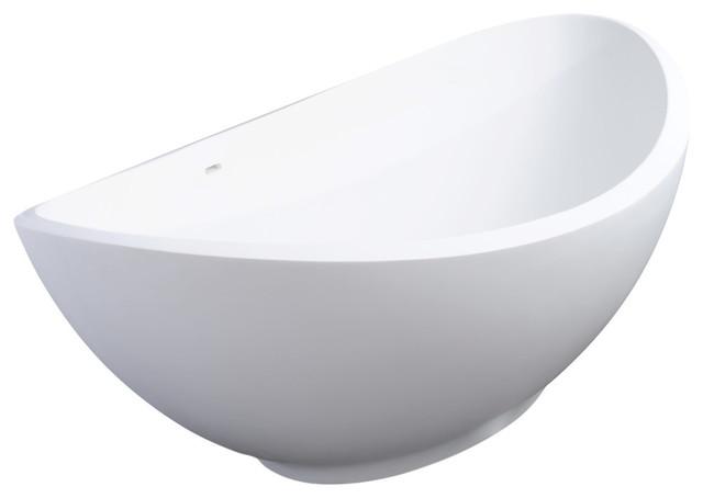 Lavasca Mini XS Freestanding Soaker Tub, Satin White