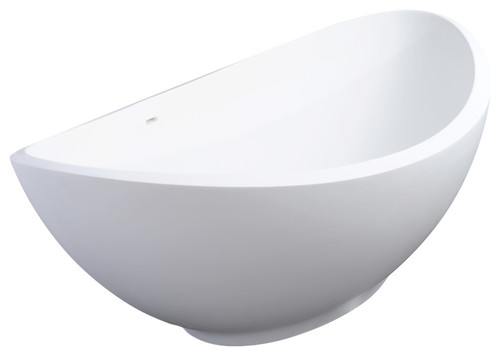 Lavasca Mini XS Freestanding Soaker Tub, Satin White
