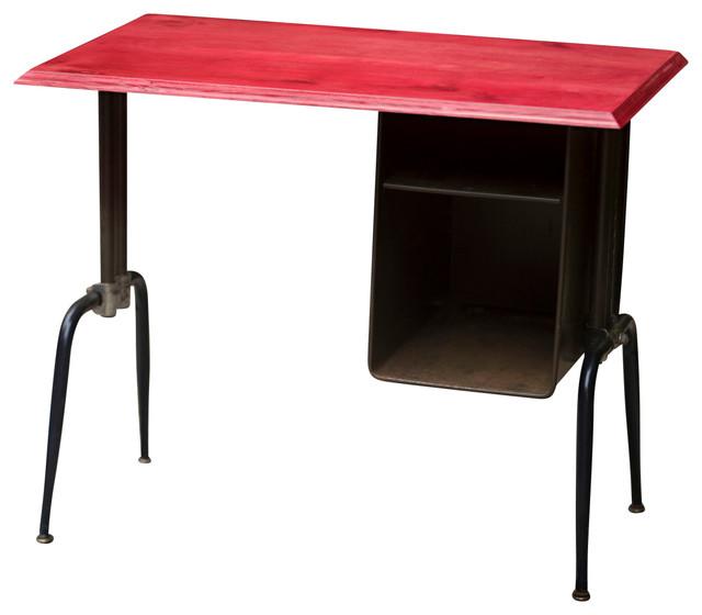 Dps 101 Mid Century School Desk Vintage Style Bright Red