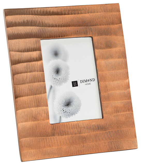 Dimond lighting ripple photo frame copper picture for Bedroom furniture 77598