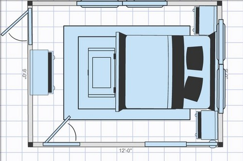 Bed in a small bedroom help for 9x12 bathroom designs