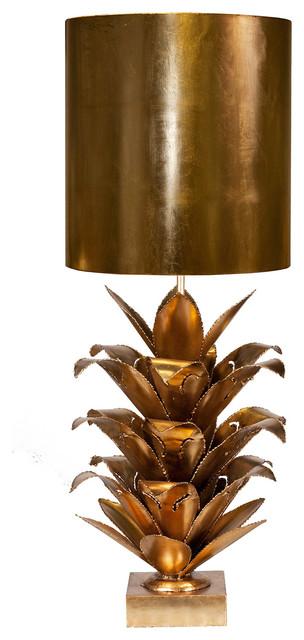 Plantation Global Bazaar Gold Pineapple Table Lamp