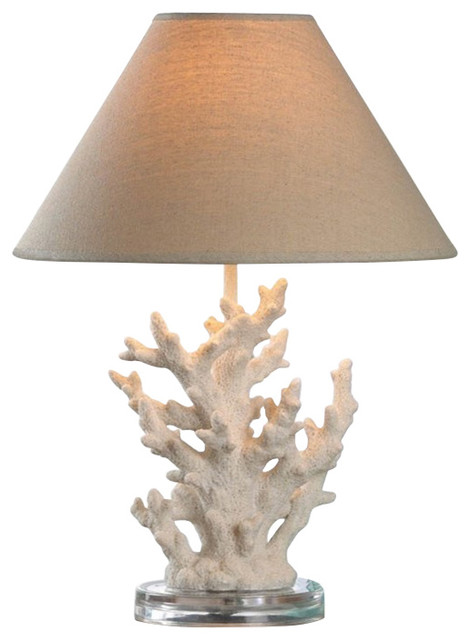 White Coral Table Lamp.