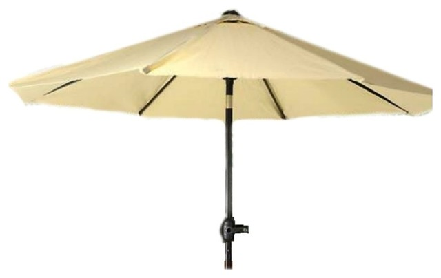 Seasonal Trends Crank Umbrella, 55.1x 5-1/21x5-1/21, Taupe.