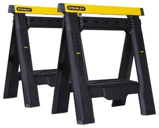 Stanley Two Way Adjustable Sawhorse, 2 Pack - Contemporary - Hand Tools And Tool Sets - by GB ...