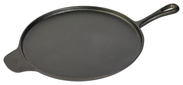 """12"""" Round Griddle With Assist Handle."""