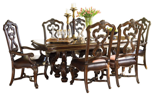 Delightful Lexington Florentino Formal Dining Room Set With Dining Table Mediterranean  Dining Sets