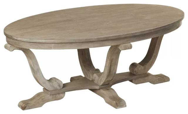 Pedestal Cabriole Leg Coffee Table