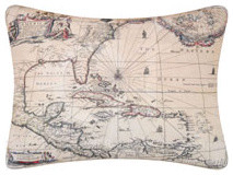 Barbados Map Throw Pillow | OceanStyles.com