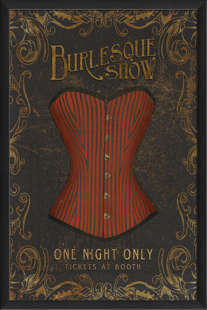 Burlesque Show Print Contemporary Prints And Posters