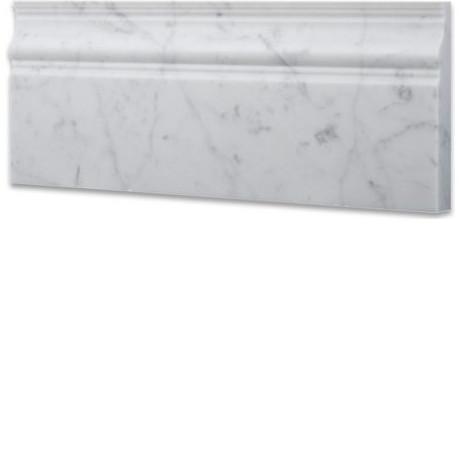 Carrara White Baseboard Trim Molding 5x12 Marble Honed