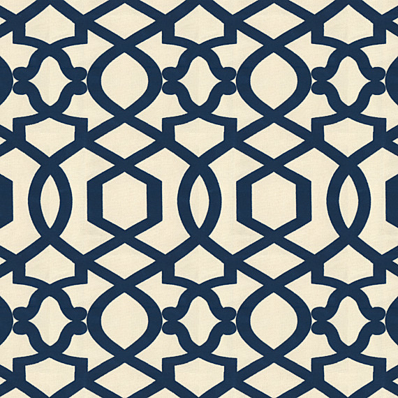 Trellis Fabric blue velvet flocked trellis fabric - contemporary - drapery fabric