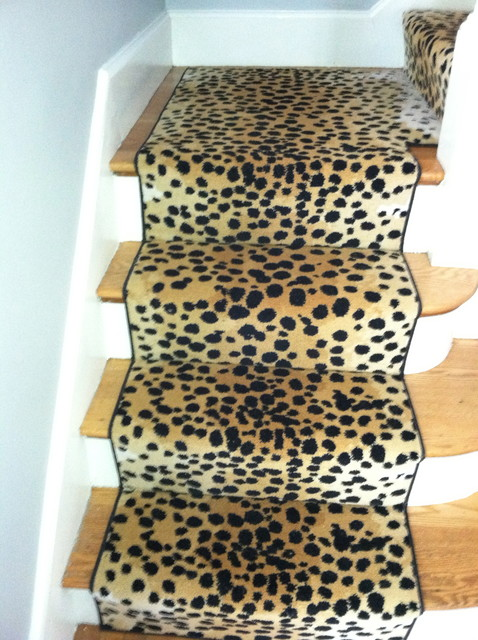 Animal Print Stair Runner Traditional Boston By The