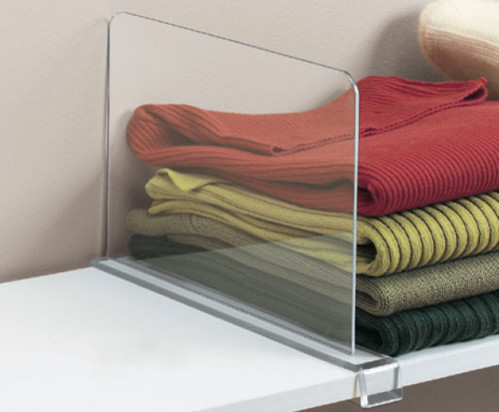 Acrylic Shelf Divider Contemporary Closet Organizers