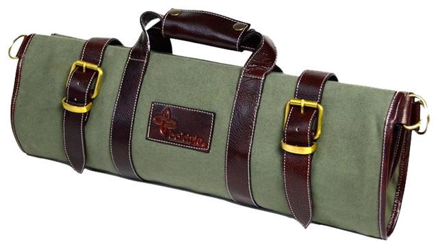 Canvas Knife Bag 17 Pocket Green