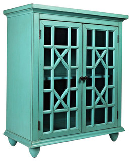 Brighton Park Accent Chest, Turquoise
