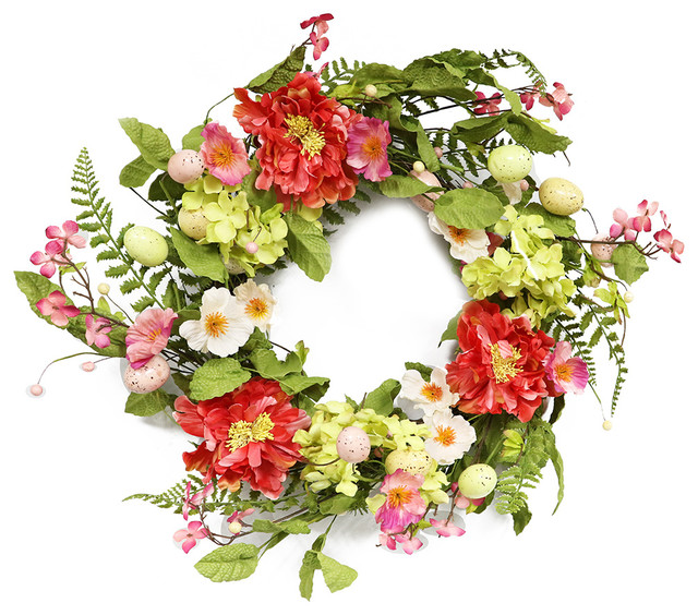"Puleo International 20"" Artificial Easter Wreath."