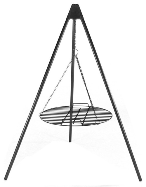 "Sunnydaze Tripod Grilling Set With Cooking Grate, 22"" Diameter."