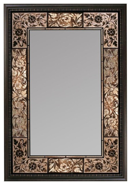 "Parisian Tile Mirror, 25.5""x37""."
