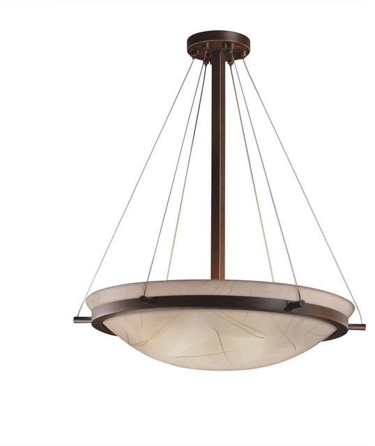 3form Ring 27 Round Bowl Pendant With Fossil Leaf Shade Medium Base Cfl