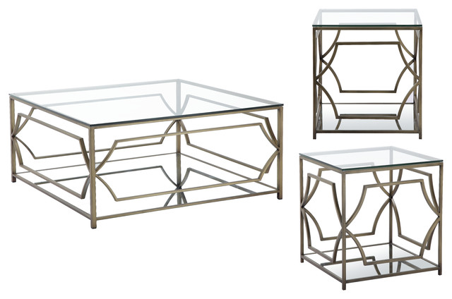 3 Piece Edward Square Living Room Table