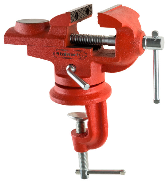 2.25 Inch Jaw Steel Universal 360-Degree Swivel Table Top Vise By Stalwart.