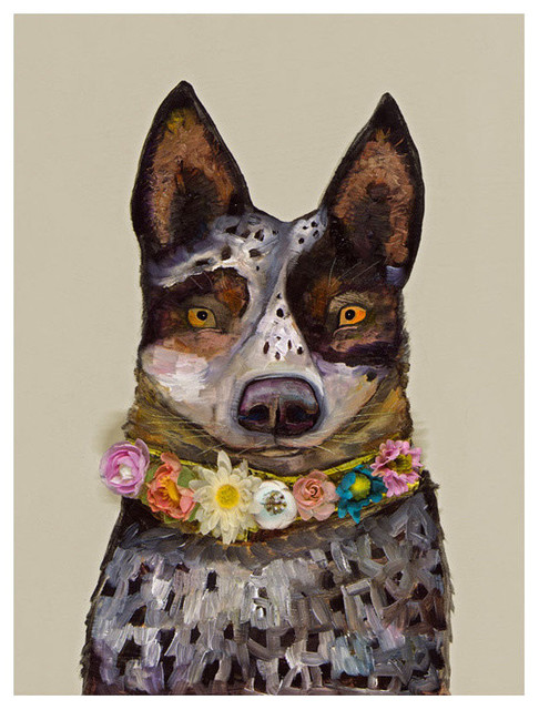 Cattle Dog Stretched Canvas Art By Eli Halpin Contemporary Prints And Posters By Greenbox Art Culture