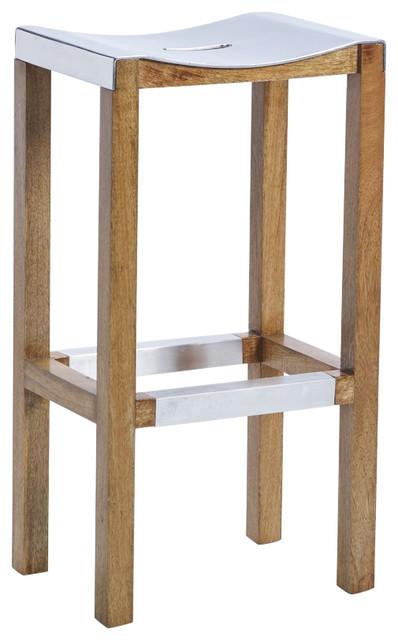 "Tarctic 30"" Aluminum Seat Barstool by Kosas Home"