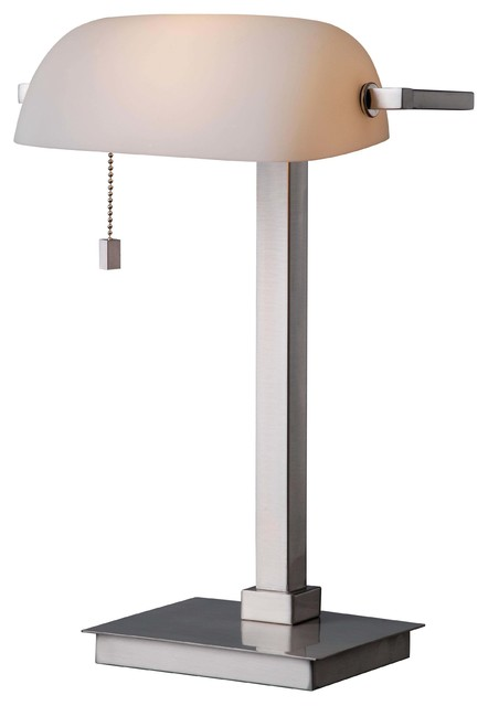 kenroyhome Wall Street Desk Lamp Brushed Steel Finish Desk – Lamps for Desk