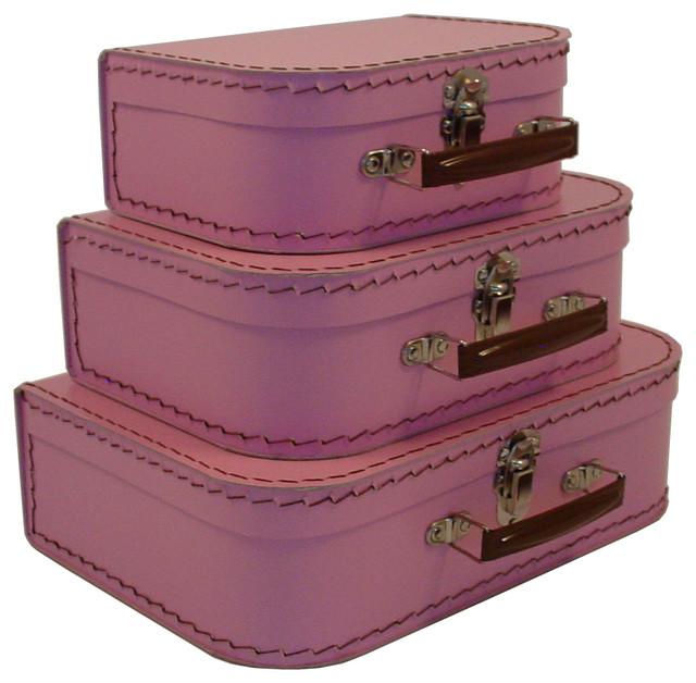 Gentil ... Decorative Storage · Decorative Trunks. Cargo Traveler Mini Suitcases,  Set Of 3, Pink Blush