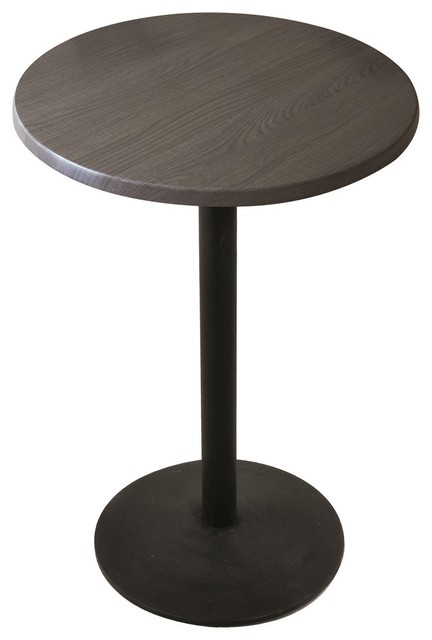 "Od214, 42"" Black Wrinkle Indoor/Outdoor Table With Charcoal Top"