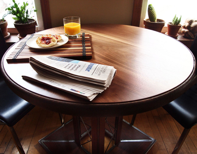 salvaged wood placemats industrial dining room chicago by solo