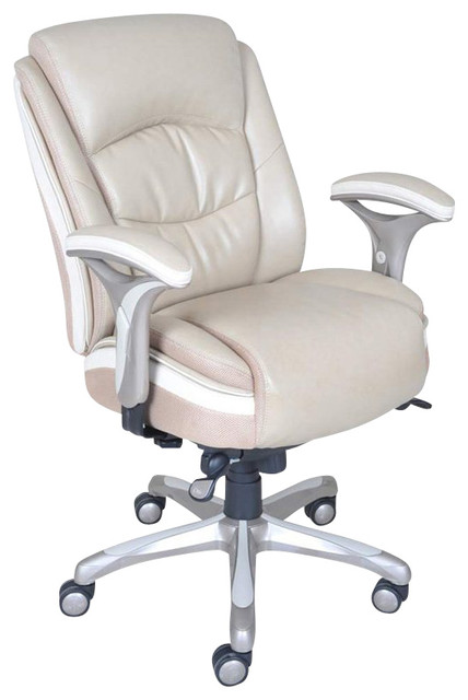 off white office chair serta by true innovations smart layers manager office chair in serenity