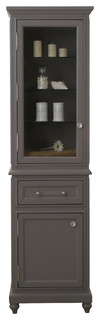The Derby Collection Linen Cabinet, Gray