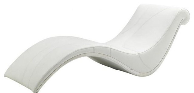 Modern White Leather Leisure Lounge Chair