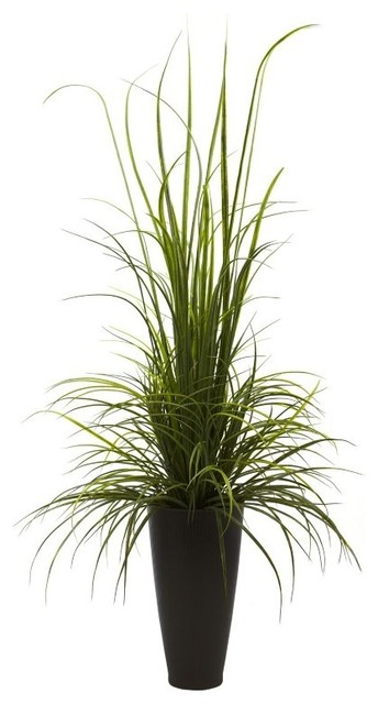 64 Quot River Grass With Planter Indoor Outdoor Green