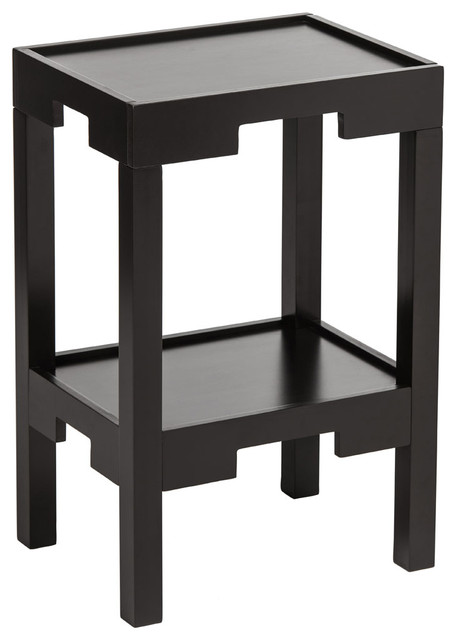 Osaka Corner Table With Shelf Asian Side Tables End Tables By Premier Housewares