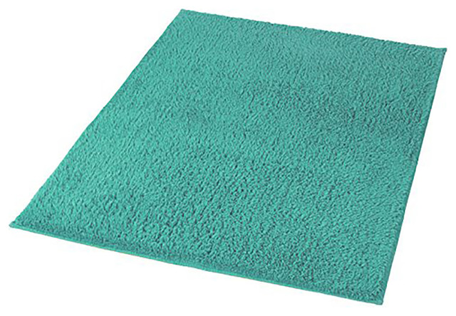 Turquoise Cotton Non Slip Washable Bathroom Rug Kansas View In Your Room Houzz