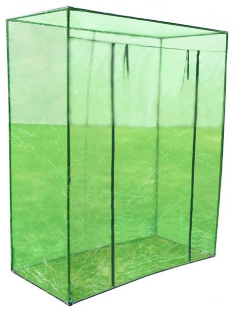 vidaXL PVC Green House With Steel Frame