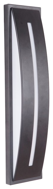 Craftmade Luna Small Led Outdoor Sconce, Midnight, Z9402-11-Led.